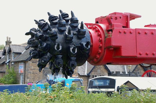 Coal cutting head, Scottish Mining Museum Newtongrange