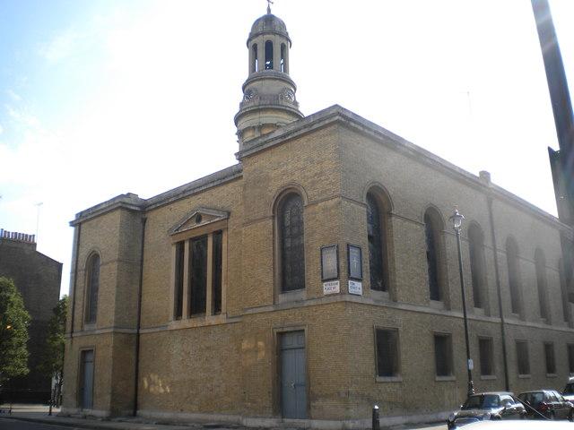 Rear of St Mary's Church, York Street W1