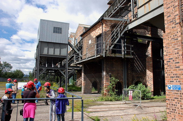 Pithead and railway lines, Lady Victoria Colliery Newtongrange