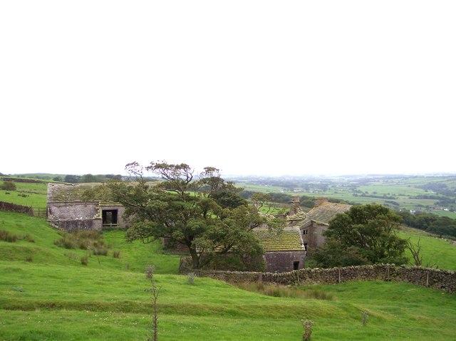 The ruins of Fell End Farm
