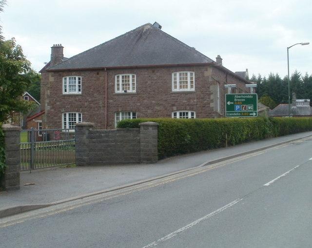 Llandovery College building at New Road entrance
