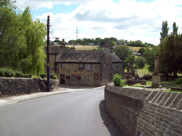 Church Lane and the Beaumont Arms, Kirkheaton