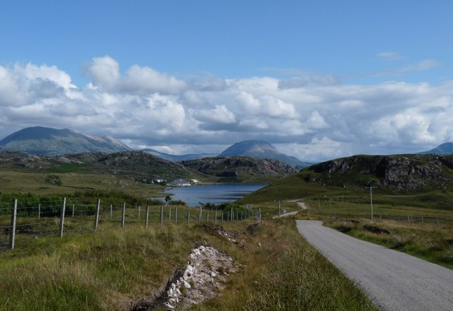 The road above Loch Na Larach