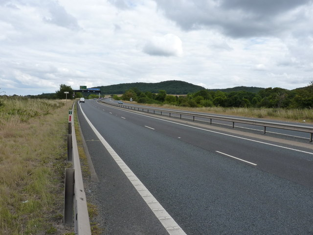 Eastwards along the A5 to the M54