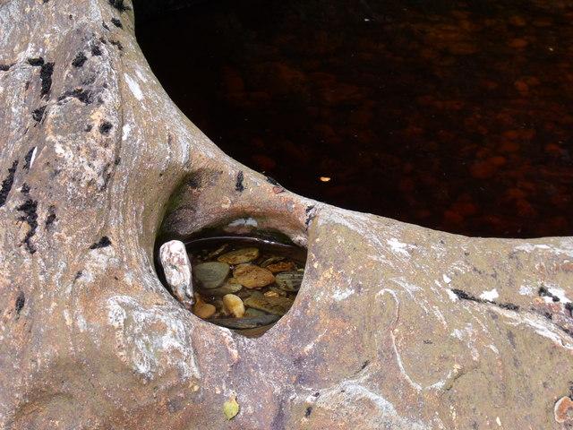 Little pothole in Strone Burn
