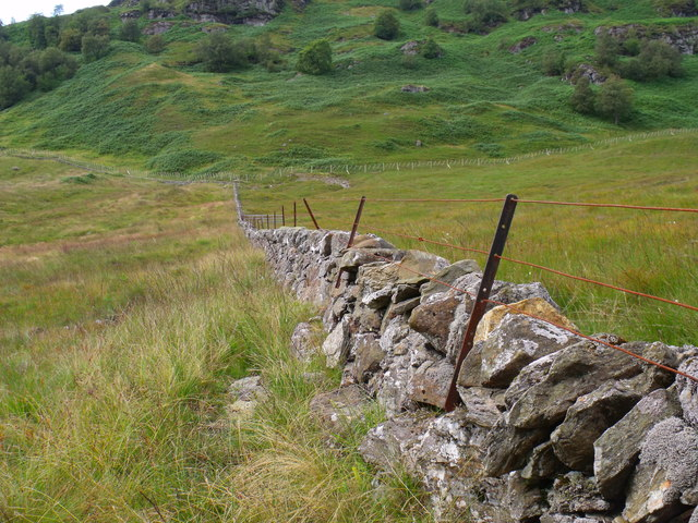 Boundary dyke west of Strone Burn near Loch Katrine
