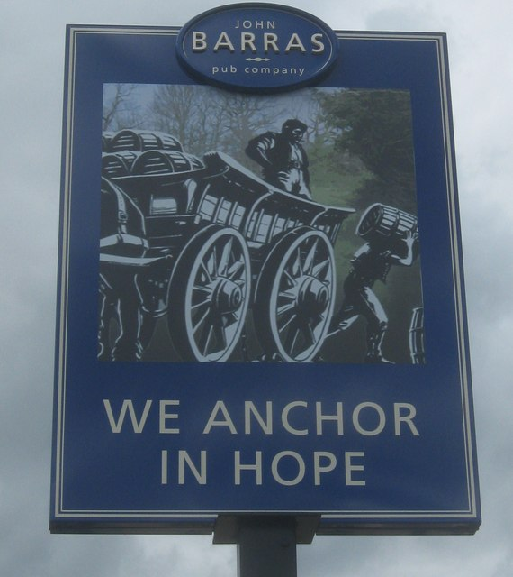 We Anchor In Hope, Pub Sign, Welling