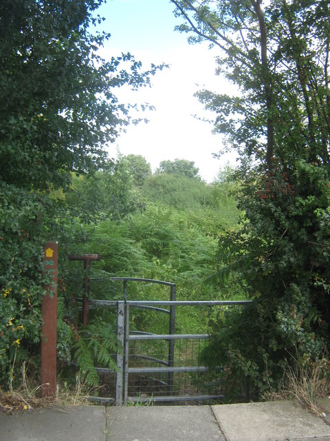 Green Chain Walk kissing gate on the A207