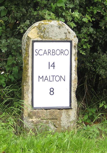 Milestone near East Knapton