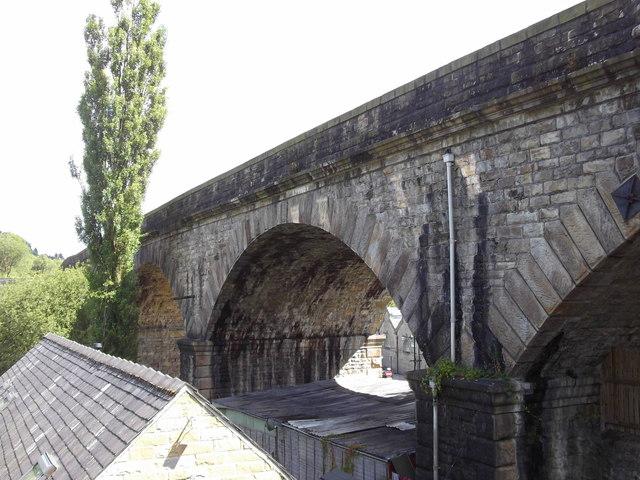 The Todmorden Railway Viaduct, Yorkshire