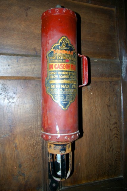 Fire extinguisher in St James' Church