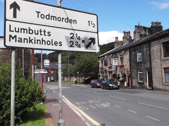 """""""The Cross Keys"""" (Pub) 649 Rochdale Road, Walsden, Todmorden, West Yorkshire OL14 6SX"""