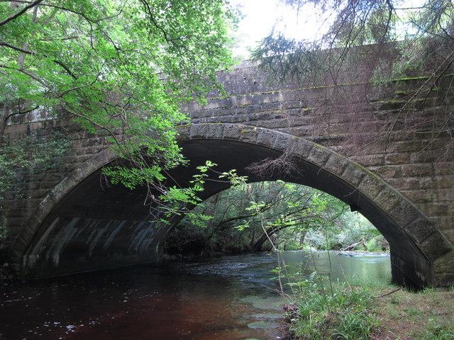 The bridge at Dukesfield Mill