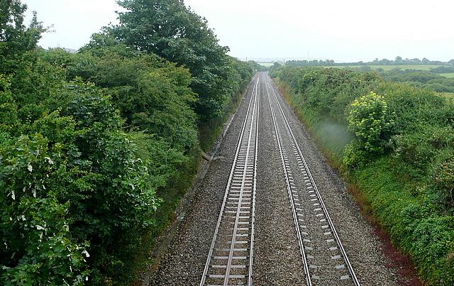 Looking south from Gitchell Lane railway bridge