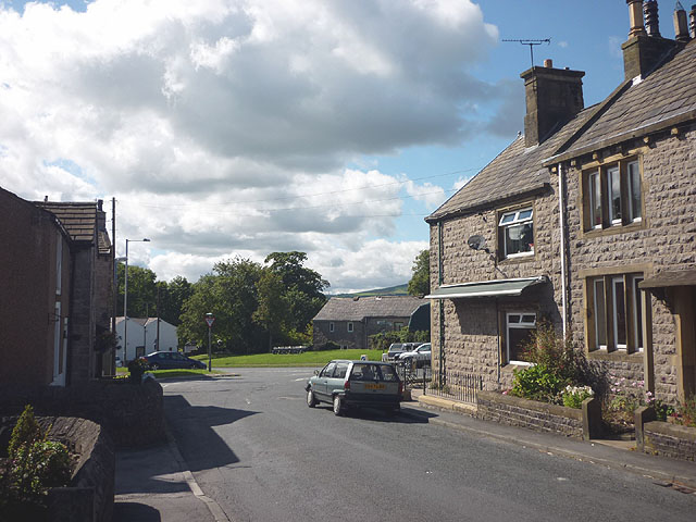 Road junction in Chatburn