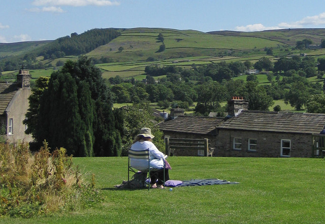 Summertime view, Reeth