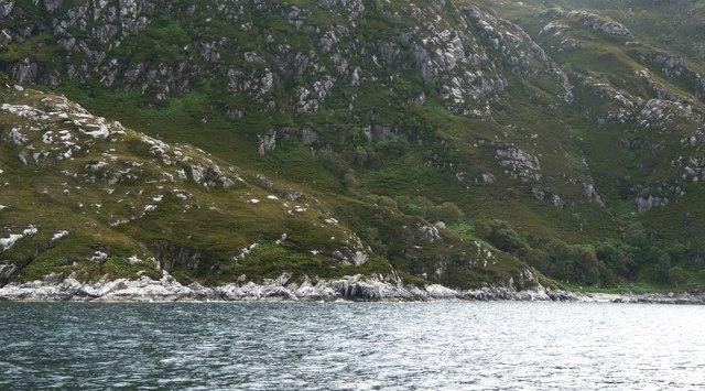 Rocky point near Eilean Giubhais
