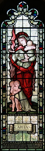 St Mary the Virgin, Little Hallingbury - Stained glass window