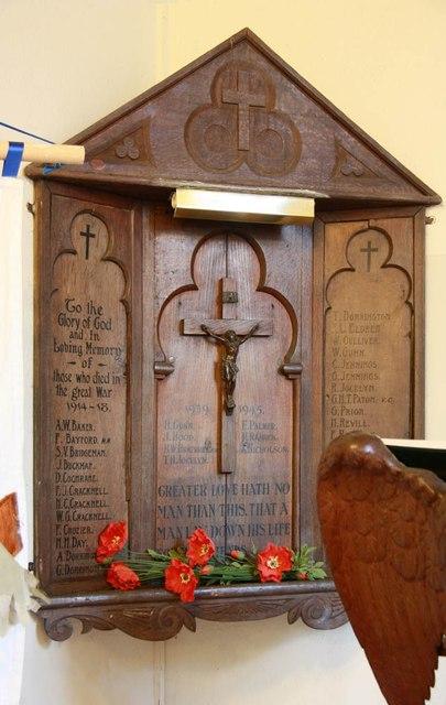 St Mary the Virgin, Little Hallingbury - War memorial WWI