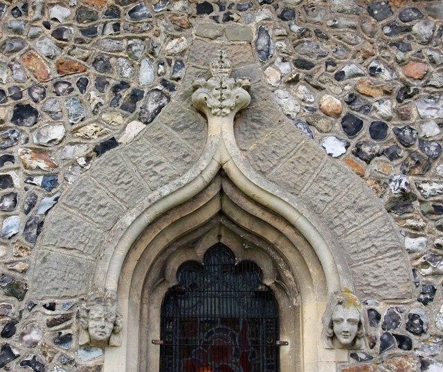 St Mary the Virgin, Little Hallingbury - Window detail