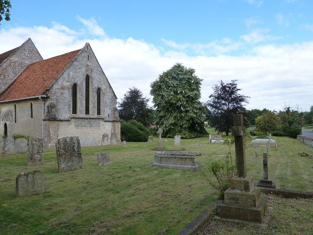 St. Mary the Less, Chilbolton: churchyard (II)