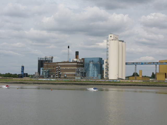 Industry on the banks of the Thames at Tilbury