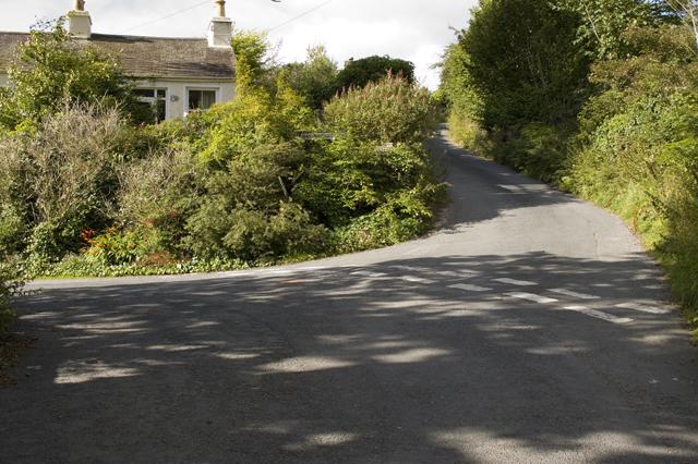Road and lane junction Burn Knott