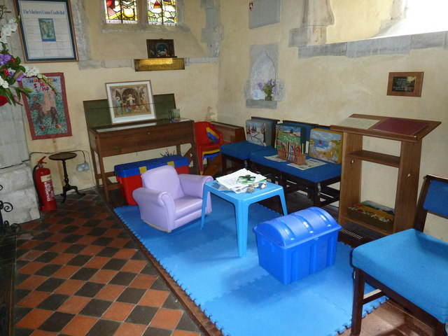 St. Mary the Less, Chilbolton: children's area