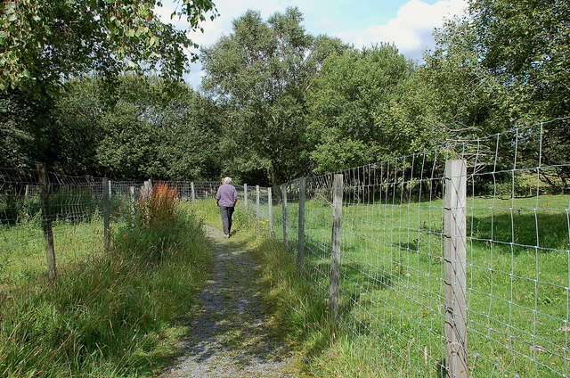 Footpath to Camp Wood above Mayfield
