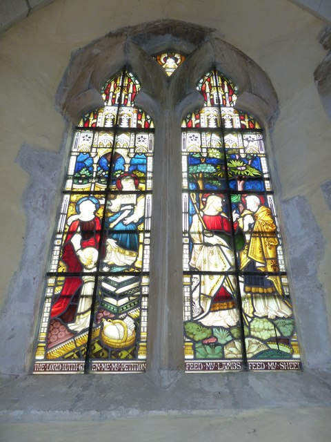 St. Mary the Less, Chilbolton: stained glass window (1)