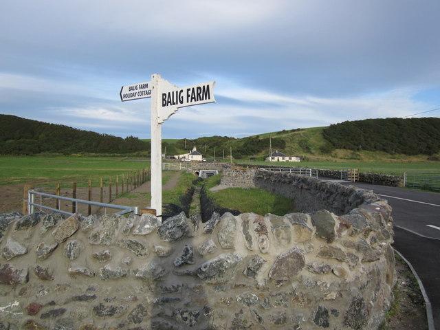 Balig Farm Sign