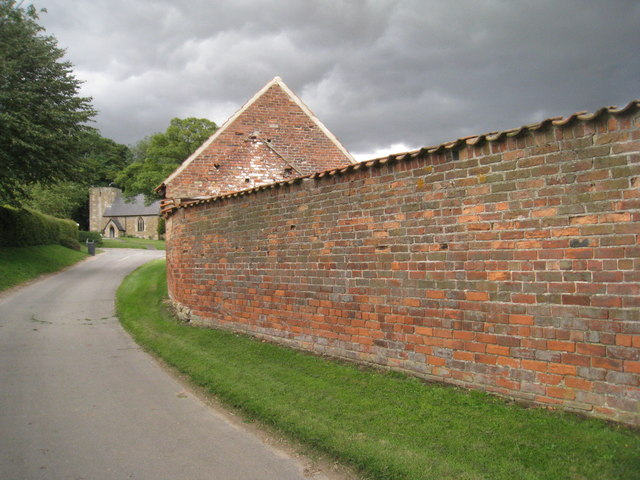 Wall at Hall Farm