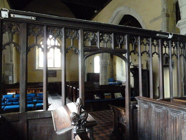 St. Mary the Less, Chilbolton: looking from the chancel into the nave