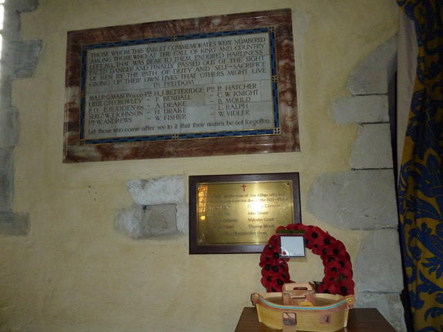 St. Mary the Less, Chilbolton: war memorial