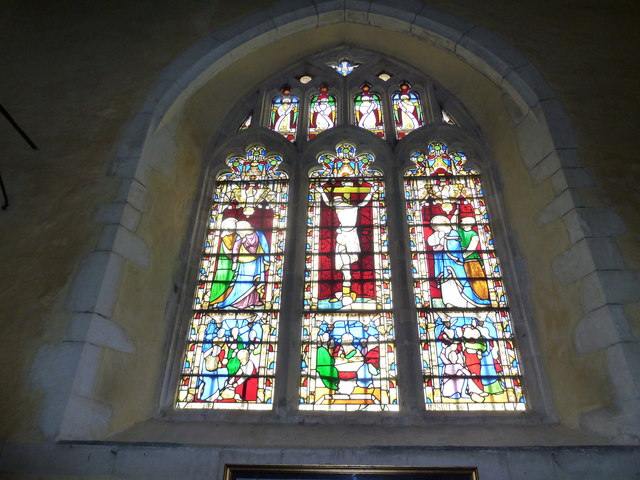 St. Mary the Less, Chilbolton: stained glass window (3)