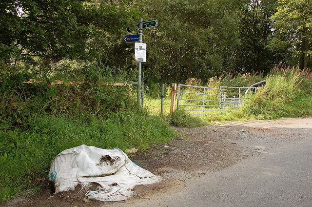No Fly Tipping - by order