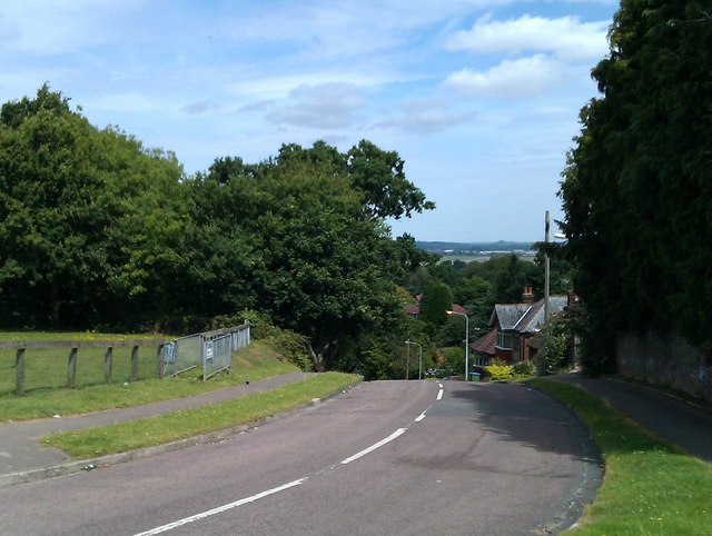 View down Dell Road