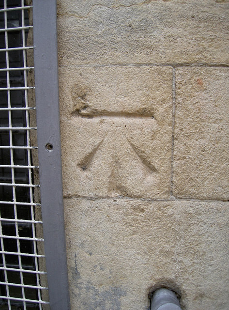 Cut benchmark, Abbey gatehouse