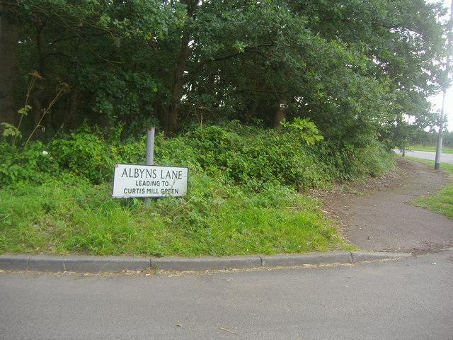 Corner of Albyns Lane, Passingford Bridge