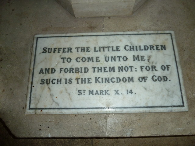 St Mary's, Micheldever: inscription on the base of the font