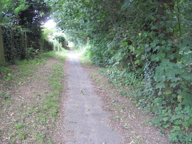 Footpath from School Road to Mayles Lane, Wickham