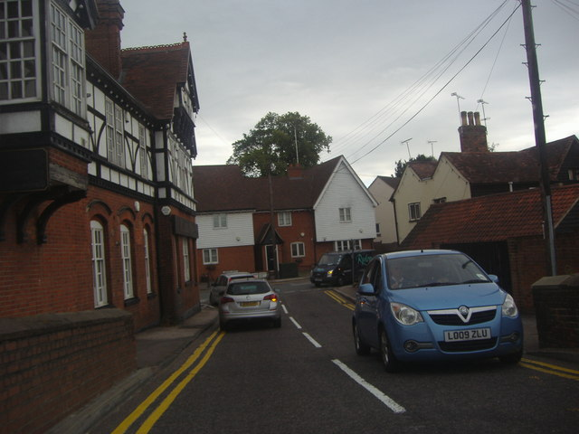 Abridge Road at junction of Market Place
