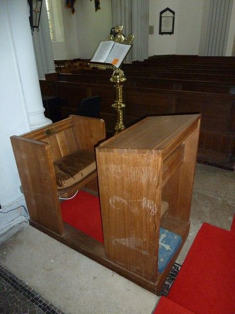 St Mary's, Micheldever: prayer desk