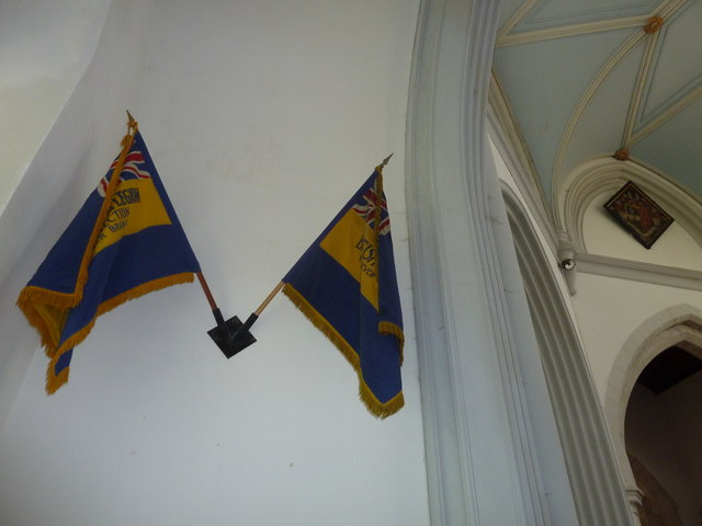 St Mary's, Micheldever: flags