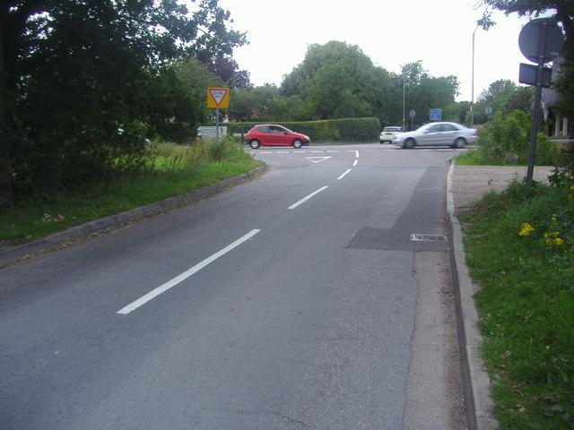 Claypit Hill at junction of Woodridden Hill
