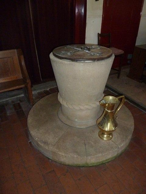 Saint Mary, Tufton: font