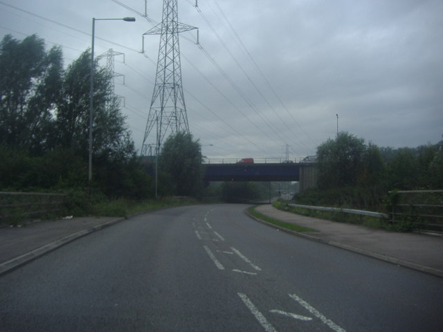 Fleming Road at the M25 flyover