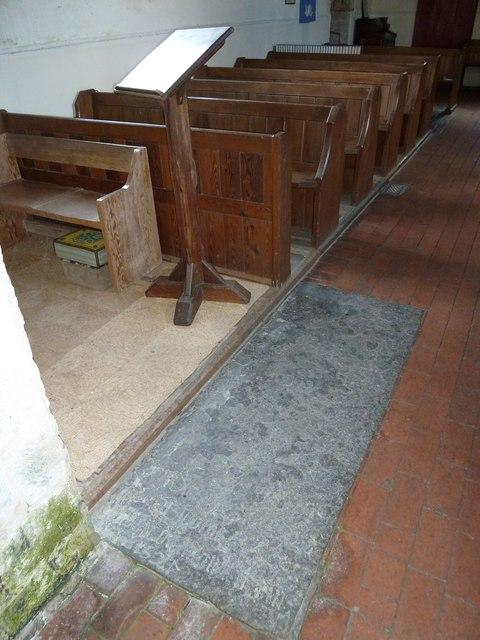 Saint Mary, Tufton: lectern and pews