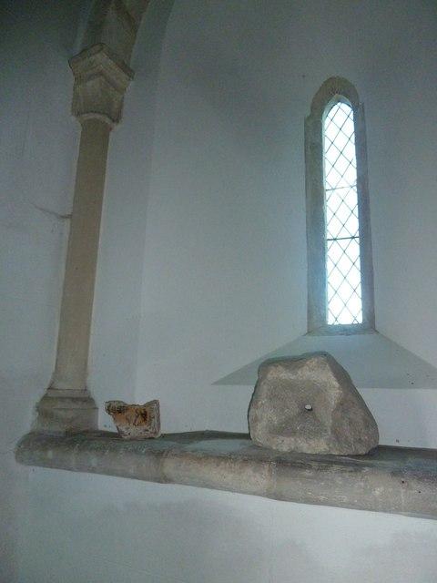 Saint Mary, Tufton: church window