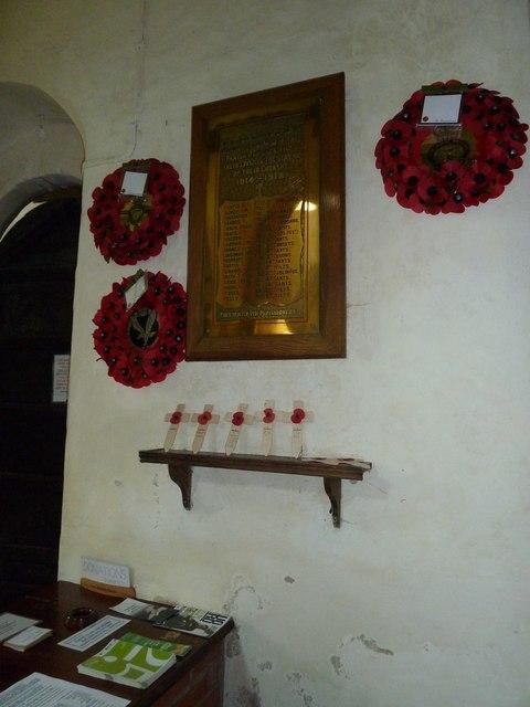 Nether Wallop- St Andrew's: war memorial